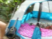Besties enjoyed camping and group sex
