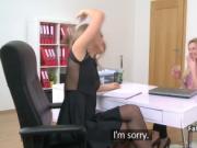 Lesbian agent enjoyed in casting
