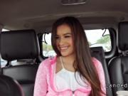 Petite Latina teen fucking stranger in his car