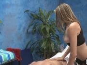 Kinky girl gets pussy massage