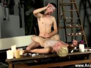 Gay twinks Splashed With Wax And Cum