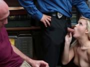 Shoplifter Madison bangs in front of bf