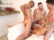 Dude humps tight shemale's hole