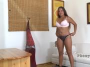 Big ass tanned hottie bangs in casting