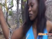 Ebony doll enjoying some fetish action