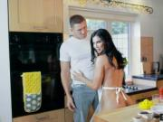 Huge boobs mature banged in the kitchen