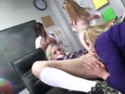College babes group sex with horny prof