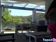 Teen Latina with amazing booty and small tits fucked ha
