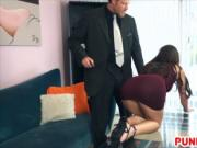 Slut Blair Summers gets treated right with chains and w