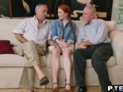 A very cute redhead teen Dolly Little gets her sweet sh