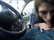 Teen gal Dillion Carter fucked in public