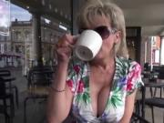 Unfaithful uk milf lady sonia pops out her monster titt