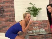 Fervid sweetie is geeting peed on and squirts wet fuckb