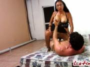 Big breast Latina humping on handsome white cock new No