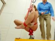 Extreme BDSM ass action in gangbang
