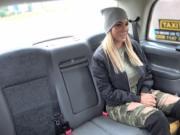 Big fake boobs Milf Aubrey Blacks intense backseat miss