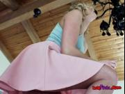 Blonde Babe Kate England Gets Her Anus Fondled