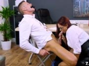 Boss Emma Butt blowjob Marc Roses cock
