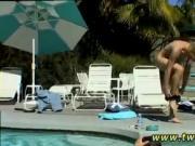 Gay twinks teen ladyboy movie Pool Four-Way!