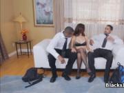 Housewife on two big black dicks