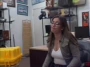 Sexy babe Charlie Harper fucked hard in the office