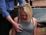 Blondie thief railed and cum facialed