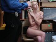 Riley Star bouncing her pussy on top of the LP Officer