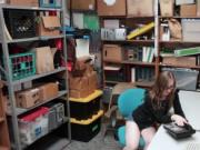 Shoplyfter Gracie May Green blowjob the LP Officers coc