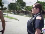 Kinky cop taking care of black boner