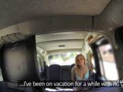 Blonde milf enjoyed anal in taxi