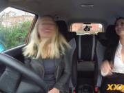 Hot Blonde Driving Student Gets Orally Tested in the ba