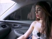 Joseline Kelly slaps a cock in the car for a free ride