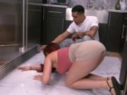 Charming big ass and huge tits redhead babe Skyla Novea