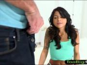 Small tits teen Sadie Pop pussy slammed
