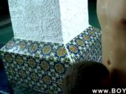 Gay fuck Jacob howls with anguish and sensation before