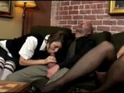 Kelly teaches Haylee to deepthroat cock