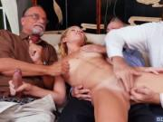 Raylin Ann fucked by a group of old men