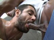 Stroking a lusty gay rod