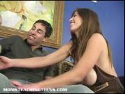 Busty Mrs. Lucky teaches tiny teen Stephanie how to fuc