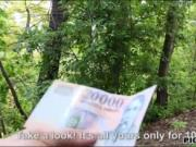 Blond Eurobabe Aisha banged in the woods