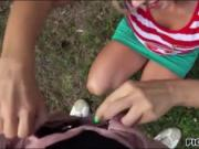 Blondie Eurobabe Nesty public fucking for a few bucks