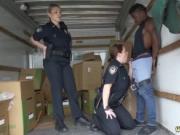 Police girl fucked Black suspect taken on a harsh ride