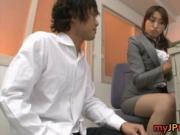 Karen Kisaragi Naughty Japanese babe gives a blowjob 1