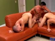 Gay movie Once Dominic's sausage is sleek with spit, t