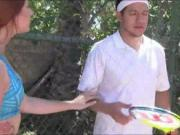 Tennis coach fucked redhead teen girl with her bestie