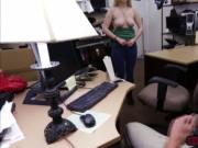 One horny pawn man enjoys blowjob in the office for cas