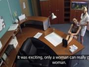 Lesbo nurse fucks horny patient