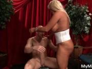 Slutty blond MILF with huge juggs JR Carrington takes J