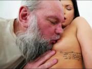 Euro Annie Wolf enjoys being licked by a grandpa n suck