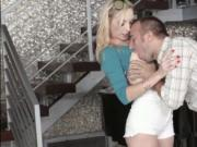 Naughty Zoe Parker pulls down her Shorts and takes a bi